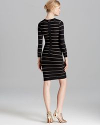 Torn Black Dress Coco Bandage Sheer Stripes