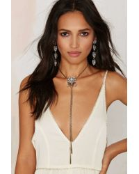 Nasty Gal | Metallic Keira Chain Bolo Necklace | Lyst