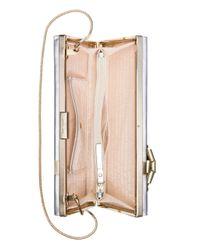 kate spade new york - Metallic Slim Gift Box Clutch - Lyst