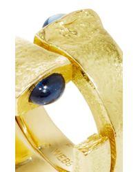 David Webb - Metallic Double Nail Ring - Lyst