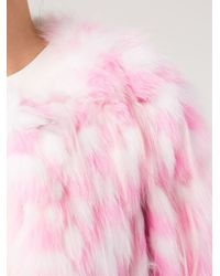 Chloé Pink Polka Dot Fur Coat