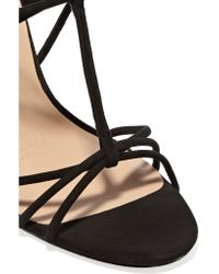 Halston Black Anita Suede Sandals