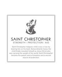 ALEX AND ANI Metallic Saint Christopher Two Tone Expandable Wire Bangle Precious Metal Collection