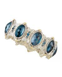 Konstantino | Thalassa Oval London Blue Topaz Station Bracelet | Lyst