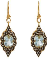 Cathy Waterman - Metallic Aquamarine Diamond Drop Earrings - Lyst