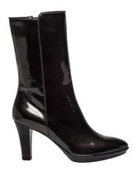 Aquatalia   Gray Raia Grey Patent Leather Weatherproof Boot   Lyst