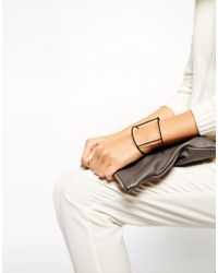 ASOS Black Fine Bar Cuff Bracelet