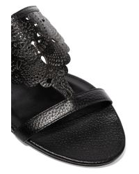 Burberry Prorsum - Black Laser-cut Leather Sandals - Lyst