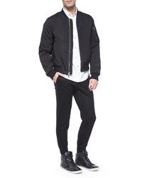 Rag & Bone Black Slim-fit Stretch Jogger Pants for men