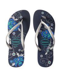 Havaianas | Blue Slim Organic Flip Flop | Lyst