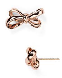 kate spade new york - Metallic Tied Up Stud Earrings - Lyst