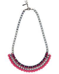 John & Pearl - Purple Pink Bead Necklace - Lyst