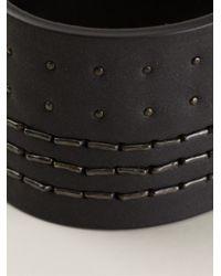 Rick Owens Black Studded Bracelet for men