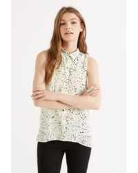 Oasis Gray Graphite Textured Sleeveless Shirt
