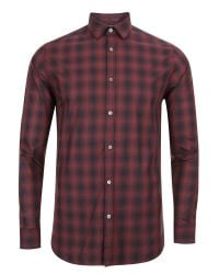Ted Baker | Red Fulstop Ombré Checked Shirt for Men | Lyst