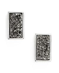 Marcia Moran | Metallic Drusy Stud Earrings | Lyst