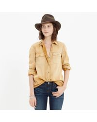 Madewell | Metallic Colorfade Ex-boyfriend Shirt | Lyst