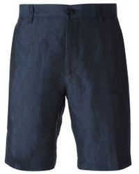 Etro Blue Classic Chino Shorts for men