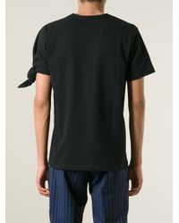J.W.Anderson - Black Single Knot T-Shirt for Men - Lyst