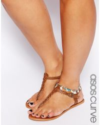 ASOS - Multicolor Moon Bead Anklet Pack - Lyst