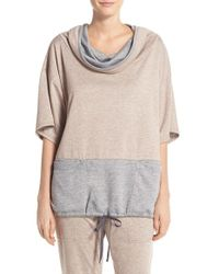Midnight By Carole Hochman | Natural Cowl Neck Top | Lyst