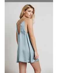 Free People Green Just Because Slip