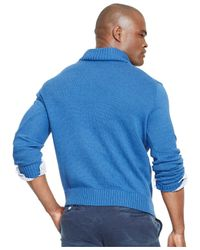 Polo Ralph Lauren Blue Half-zip Mockneck Sweater for men