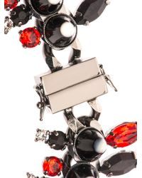 Givenchy Red Onyx, Crystal & Mother-Of-Pearl Necklace