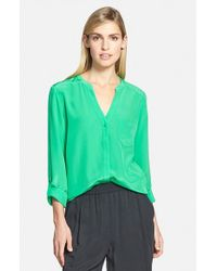 Trouvé | Green Silk Blouse | Lyst