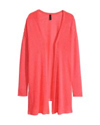 H&M Pink Knitted Cardigan