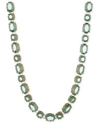 Anne Klein | Green Gold-tone Stone Collar Necklace | Lyst