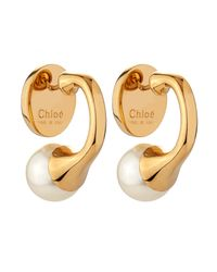 Chloé - White Darcy Earrings - Lyst