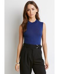 Forever 21 | Blue High Neck Top | Lyst