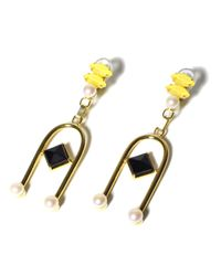 Volha | Yellow Onyx Suspended Earrings | Lyst