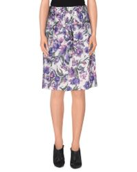 Tara Jarmon - Purple Knee Length Skirt - Lyst