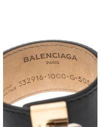Balenciaga   Black Le Dix Leather Bracelet   Lyst