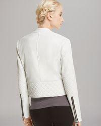 Koral - White Jacket Olympia Leather Biker - Lyst