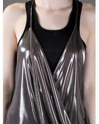 Haider Ackermann Metallic Draped Top