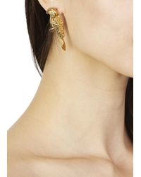 Virzi+de Luca - Metallic Gold Tone Parrot Earrings - Lyst