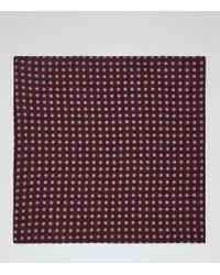 Reiss | Purple Stanford Polka Dot Pocket Square for Men | Lyst