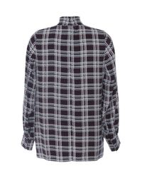 Mother Of Pearl | Red Allen Plaid High-neck Silk Blouse | Lyst