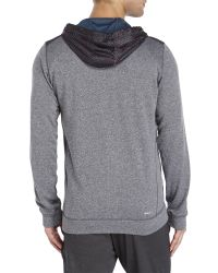 Adidas Blue Radiant Zip Front Hoodie for men