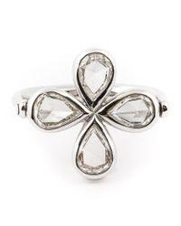 Marie-hélène De Taillac - Metallic Diamond Four-leaf Clover Ring - Lyst