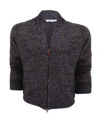 Inis Meáin Multicolor Mens Donegal Zip Linen Sweater for men