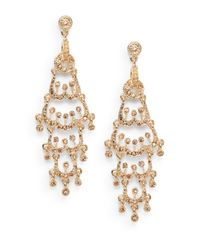 Saks Fifth Avenue | Metallic Chandelier Earrings | Lyst