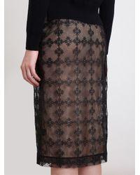 Simone Rocha - Black Floral Lace Pencil Skirt - Lyst