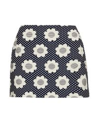 TOPSHOP Blue Petite Flower Power Pelmet Skirt
