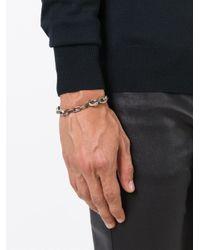 Henson | Metallic Distressed Chain Bracelet for Men | Lyst