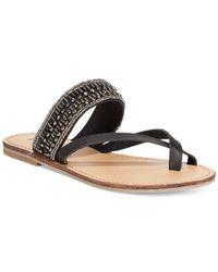 MIA | Black Maisy Toe Thong Beaded Sandals | Lyst