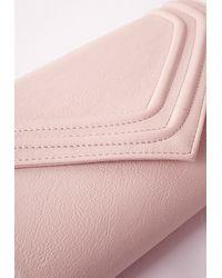 Missguided - Pink Envelope Clutch Bag Blush - Lyst